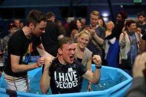 Nonagon flatpack baptistry
