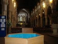 wooden portable baptistry