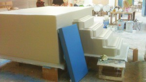Insulated baptistry tank