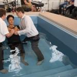 Permanent baptistry tank