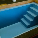 wooden baptistry tank lined
