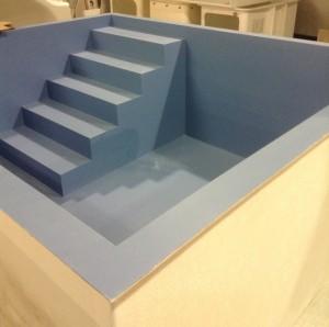 Baptistry with corner steps