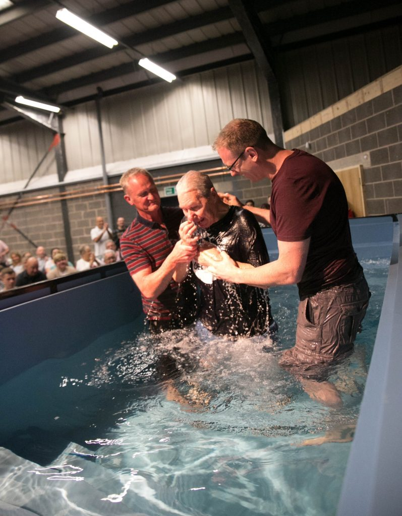 movable baptistry on wheels