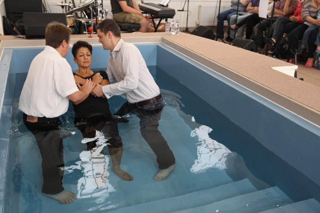 Permanent baptistry pool